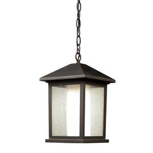 Luminaire suspendue extérieure Mesa, bronze huilé
