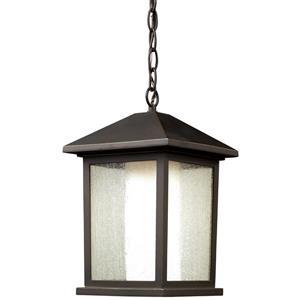 Luminaire suspendue à 1 lumière Mesa, bronze huilé