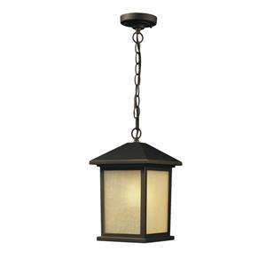 Luminaire suspendue extérieure Holbrook, bronze huilé