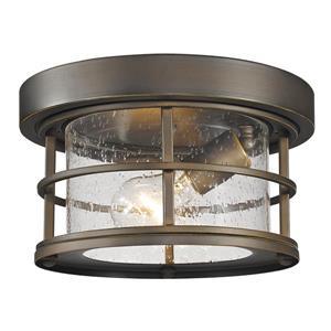 Z-Lite Exterior Additions Oil-Rubbed Bronze 1-Light Outdoor Flush Mount Light