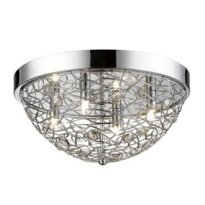 Z-Lite Nabul Chrome 4-Light Flush Mount