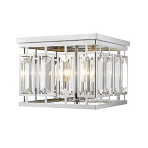 Z-Lite Meresse Chrome 4-Light Flush Mount