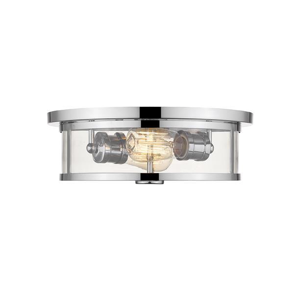 Z-Lite Savannah Chrome 2-Light Flush Mount Light