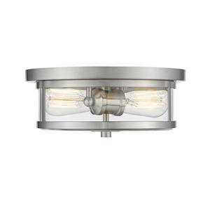 Z-Lite Savannah Brushed Nickel 2-Light Flush Mount Light