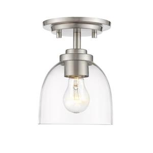 Z-Lite Ashton Brushed Nickel 1 Light Flush Mount Light