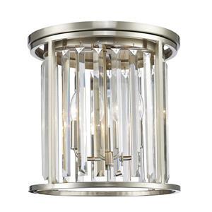 Plafonnier à 3 lumières Monarch, nickel brossé