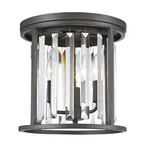 Z-Lite Monarch Bronze 3-Light Flush Mount