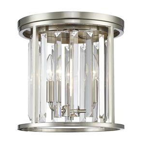 Z-Lite Monarch Brushed Nickel 3-Light Flush Mount