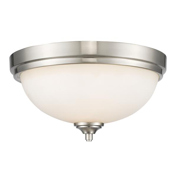 Z-Lite Bordeaux Brushed Nickel 2 Light Flushed Mount Light