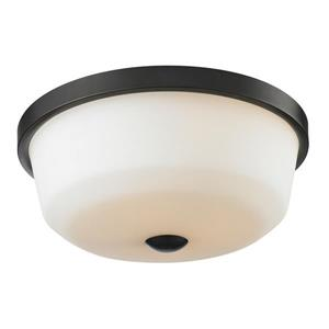 Z-Lite Montego Copper and Bronze 3-Light Flush Mount