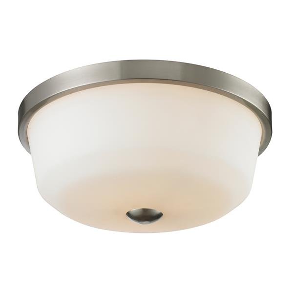 Z-Lite Montego Brushed Nickel 3-Light Flush Mount