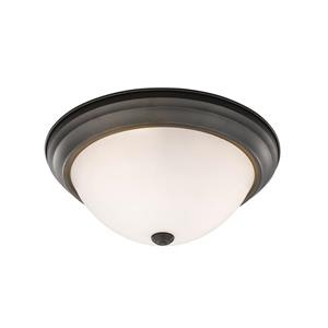 Z-Lite Athena Light Bronze 3 Light Flush Mount Light