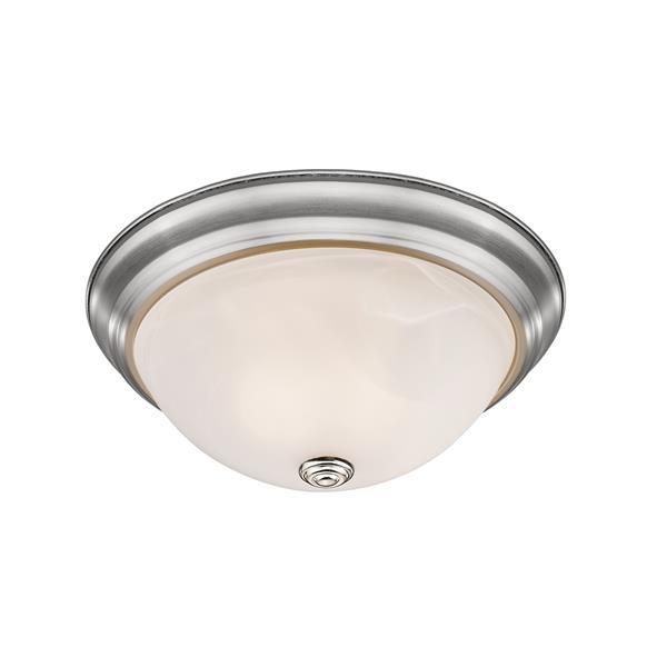 Z-Lite Athena  Brushed Nickel 3 Light Flush Mount Light