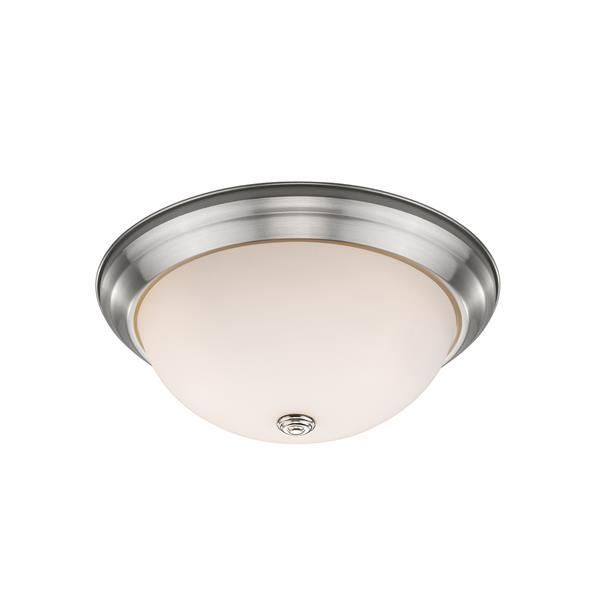 Z-Lite Athena Brushed Nickel 2 Light Flush Mount Light
