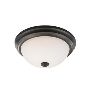 Z-Lite Athena Bronze 2 Light Flush Mount Light