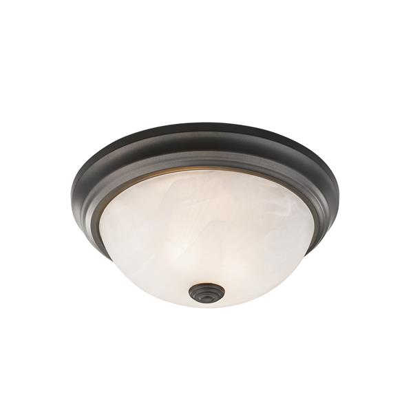 Z-Lite Athena Light Bronze 2 Light Flush Mount Light