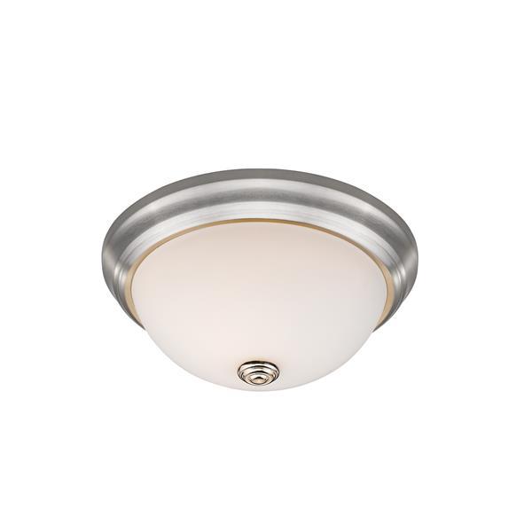 Z-Lite Athena Brushed Nickel 2 Light Flush Mount Light