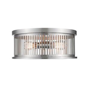 Z-Lite Camellia Brushed Nickel 3 Light Flush Mount Light