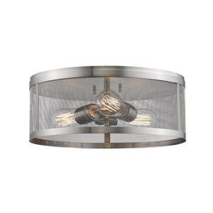 Z-Lite Meshsmith Brushed Nickel 3-Light Flush Mount