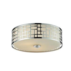 Z-Lite Elea 16.25-in Chrome 3-Light Flush Mount Light