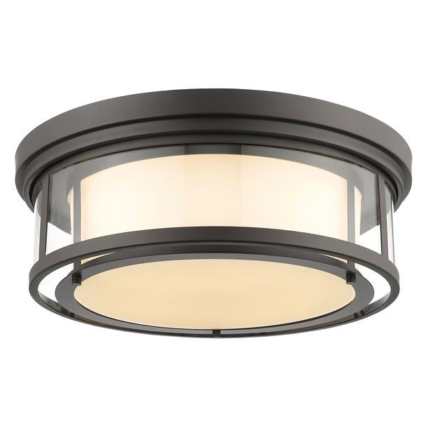 Z-Lite Luna 21.25-in Bronze 4-Light Flush Mount Light