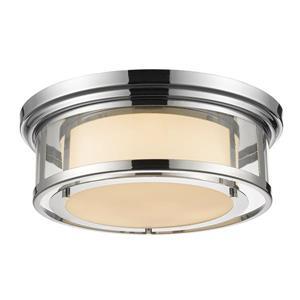 Z-Lite Luna 18.25-in Chrome 3-Light Flush Mount Light