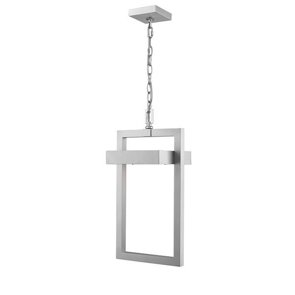 Luminaire suspendue extérieure à 1 lumière Luttrel, argent