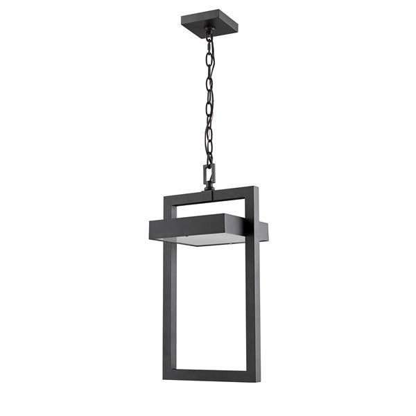 Luminaire suspendue extérieure à 1 lumière Luttrel, noir
