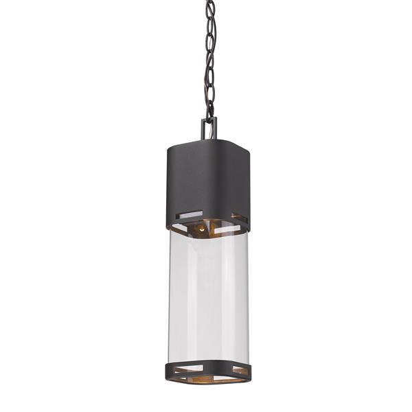 Z-Lite Lestat 1-Light Outdoor Susdpended Light - Black