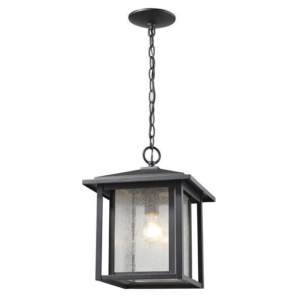 Z-Lite Aspen 1-Light Outdoor Suspended Light - Black