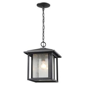 Luminaire suspendue extérieure à 1 lumière Aspen, noir