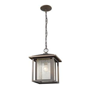 Z-Lite Aspen 1-Light Outdoor Suspended Light - Oil Rubbed Bronze