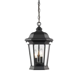 Z-Lite Melbourne 3-Light Outdoor Suspended Light - Black