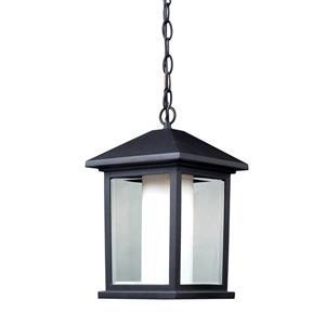 Luminaire suspendue extérieure Mesa, noir