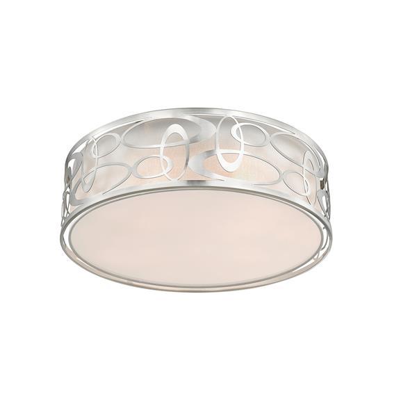 Z-Lite Opal Brushed Nickel Flush Mount Light