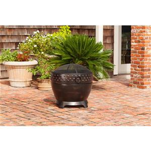Paramount Bronze Round Wood Burning Fire Pit