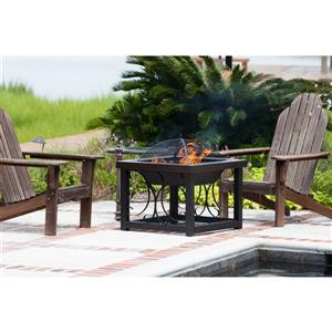 Paramount Bronze Steel Square Coffee Table Fire Pit