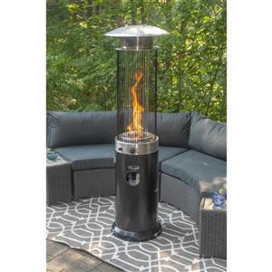 Paramount Venturi 66.9-in Black Spiral Flame Patio Heater