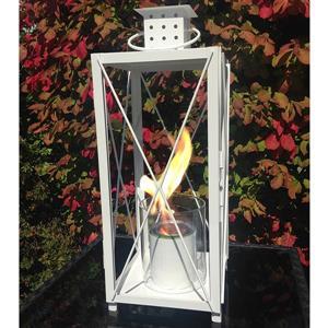 Lanterne de jardin Hastings, acier, blanc
