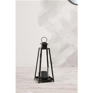 Lanterne de jardin Cordova, acier, noir