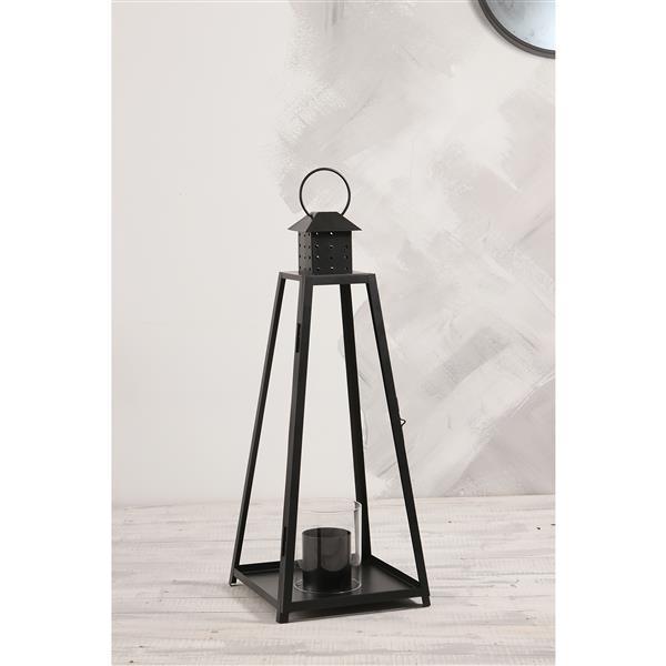 Paramount Cordova Steel Black Garden Lantern