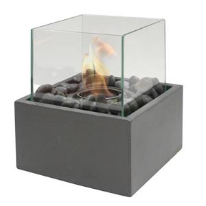 Outdoor Table Firepit - Ceramic - Gray