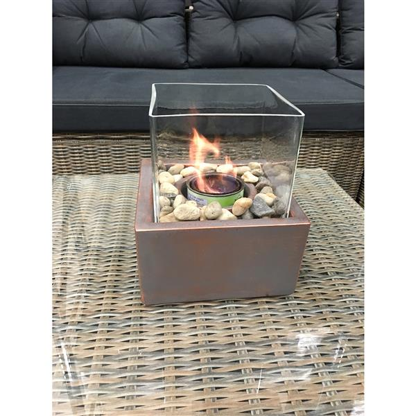Paramount Ceramic Bronze Outdoor Table Firepit