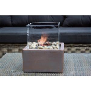 Outdoor Table Firepit - Ceramic - Bronze