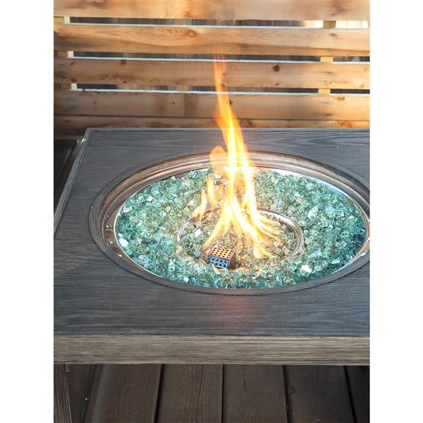 Verre de feu réfléchissant,  40 lb, vert