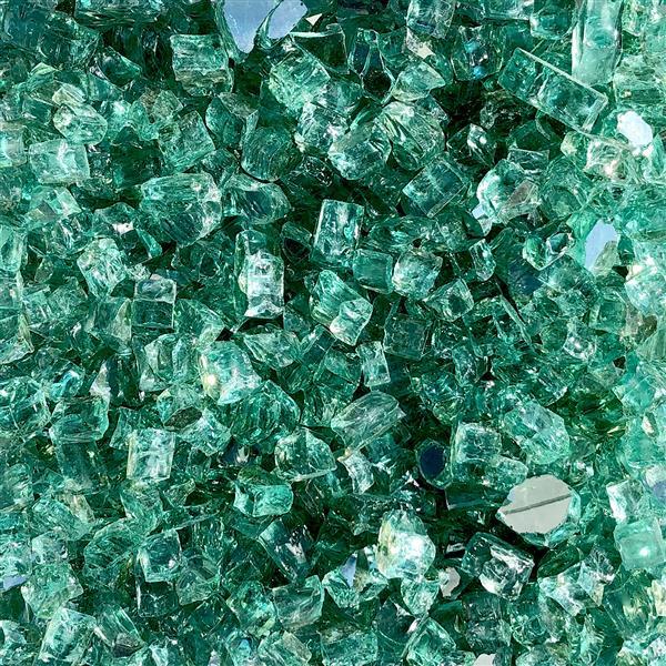Paramount Reflective Fire Glass 20 Lbs.  Luminous Sea Green Tempered Glass