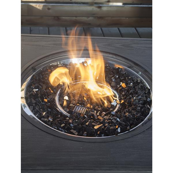 Paramount Reflective Fire Glass 20 lbs. Luminous Midnight Sparkle Tempered Glass