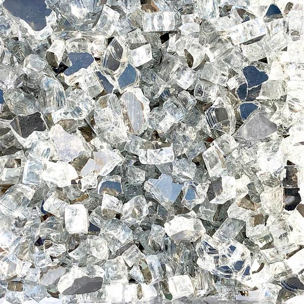 Paramount Reflective Fire Glass 40 Lbs.  Luminous Ice Crystals Tempered Glass