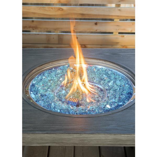 Verre de feu réfléchissant, 40 lb, bleu