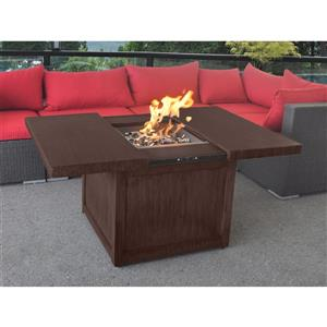Convertible 53.15-in Brown Propane Outdoor Fireplace